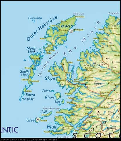 The Outer Hebrides Map