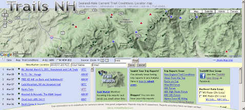 Trails NH Hiking Search Engine